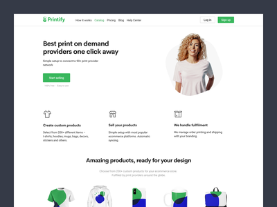 New Printify Website pod print on demand update printify website re-design main page landing page layout redesign