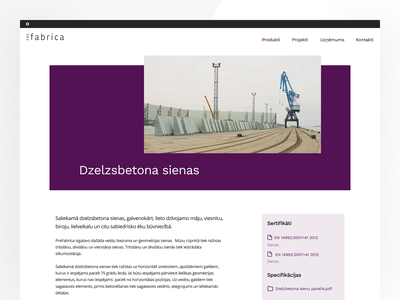 Product page of precast concrete elements typography website concept website design website landing landing page concept design product page landing page