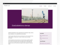 Product page of precast concrete elements