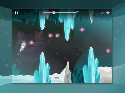 Space Level illustration sketch gameui uiux ui cave stars diamond astronaut monkey space mobile ios ipad game