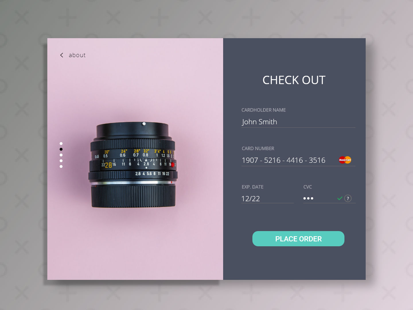 Daily UI Challenge #002 - Credit Card Checkout web ui design adobexd dailyui 002