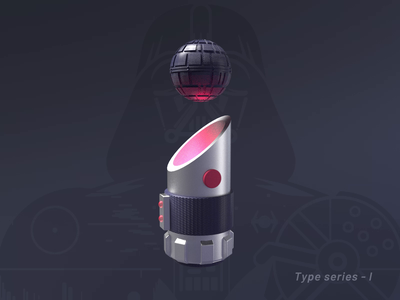 May The 4th Be With You (2020) 3d type cute vikiiing mini death star darth vader octanerender c4d starwars illustration