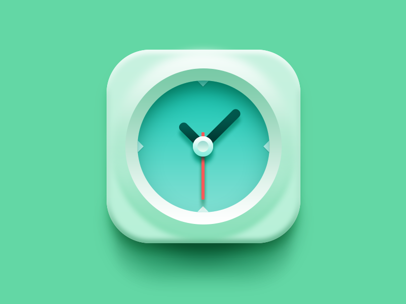 Clock browser icon clock time ios7 soft vikiiing