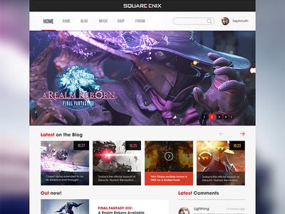 Square Enix dashboard