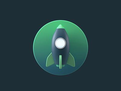 Vue_rocket loading vue loading rocket 3d c4d