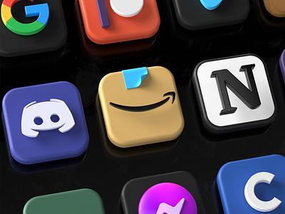 3D icons update ux illustration branding c4d icons 3d