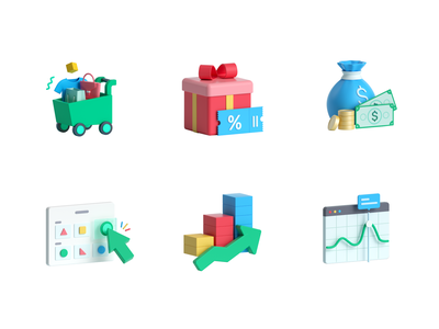 Aftersell icons icons ui illustration 3d c4d