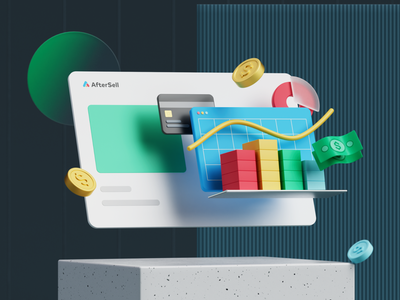 Aftersell Casestudy 3D illustration ui web aftersell branding 3d illustration c4d