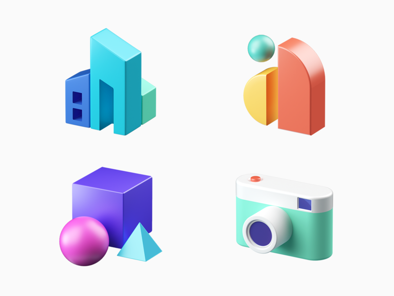 uMake  icon #01 guide logo graphic arts interior design camera ipad ux branding illustration c4d ui icons 3d