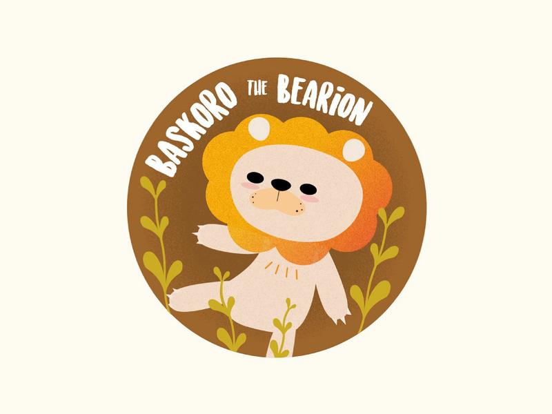 Baskoro the Bearion vector illustration design