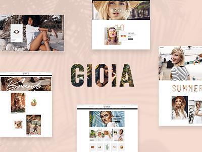 Gioia - Modern Fashion Shop webdesign website design ux ui typography web wordpress modern woocommerce fashion blogger shop fashion