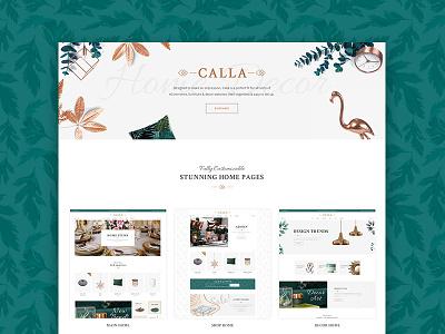 Calla - Elegant Home Decoration Shop web design web wordpress furniture home interior shop decoration home decoration home decor