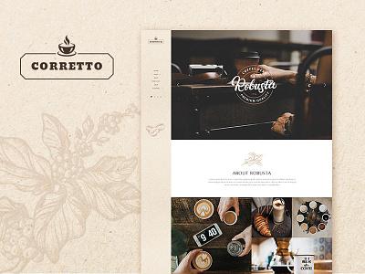 Corretto - A Theme for Coffee Shops and Cafés website webdesign ux ui shop web portfolio wordpress design wordpress blog wordpress theme wordpress elegant modern cafeteria coffee house barista bar cafe coffeeshop coffee