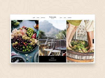 Thelma - Wine Tour design webdesign web wordpress web design webshop website wine glass vineyard winery wine bottle wine tour wine