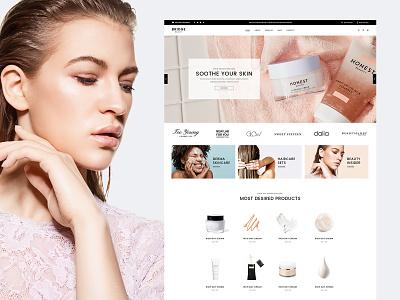 Bridge Beauty Store ux ui design modern webdesign website wordpress web beauty store business shop makeup cosmetics beauty
