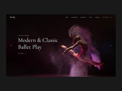 Bridge Ballet ux ui website wordpress design modern design wordpress webdesign web creative business company dance ballet