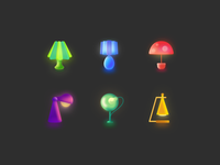 Icons for desk lamp