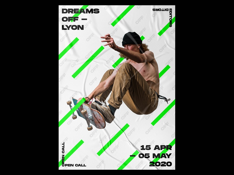 DREAMS OFF Poster printing lyon dreams skateboard skate poster design posters print design prints print typography template design gradient poster a day daily poster a poster every day poster graphic  design graphic
