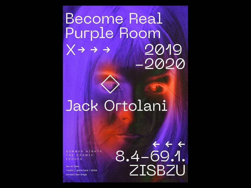 Become Real   Purple Room Poster typography design typography poster typographic type printmaking posters print design printing typo prints print typography design gradient poster a day daily poster a poster every day poster graphic  design graphic