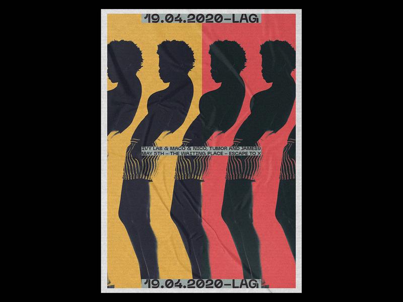 LAG Poster club electro vintage design dance printing print design prints poster design typography design print vintage illustration gradient poster a day daily poster a poster every day poster graphic  design graphic