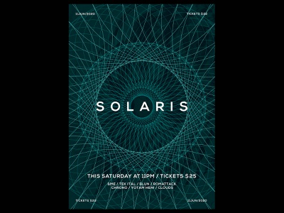 Solaris Poster space color printing prints poster design print design print geometric design geometric geometry template typography design gradient poster a day daily poster a poster every day poster graphic  design graphic