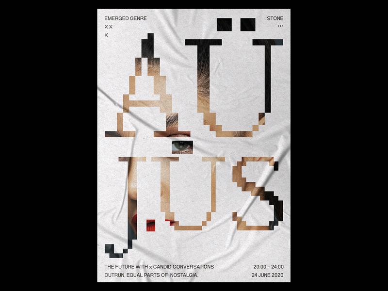 AU JUS Poster eye poster design prints print design print typo textures text typogaphy minimal template typography design gradient poster a day daily poster a poster every day poster graphic  design graphic