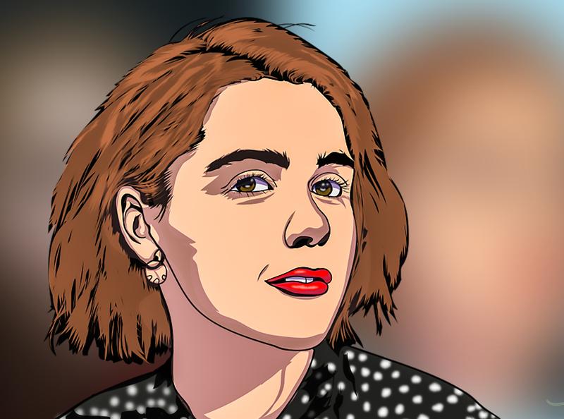 Kiernan Shipka Vector Portrait vector vector art vector illustration vector portrait cartoon character illustration