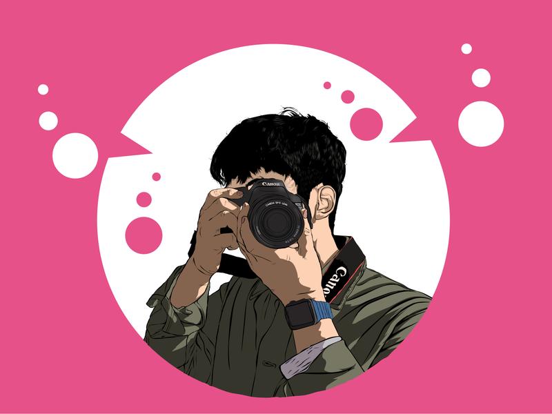 Vector Art for a client vector vector illustration vector art vector portrait cartoon character illustration