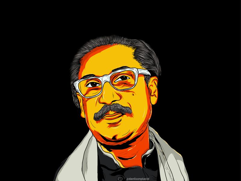 The Father of BD Nation photoshop design caricature digitalart cartoon art vector illustration vector art vector portrait cartoon character illustration