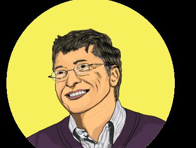 Bill Gates Portrait design vector digitalart cartoon art minimalist logo vector illustration vector art vector portrait cartoon character illustration