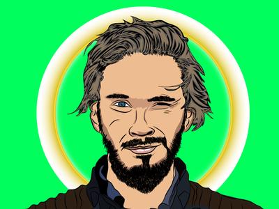 Pewdiepie Vector Portrait vector cartoon character vector portrait illustration