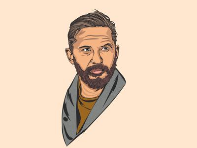 Tom Hardy Vector Portrait design vector art vector illustration vector portrait illustration