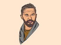 Tom Hardy Vector Portrait