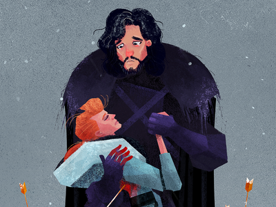 You Know Nothing Jon Snow illustration drawing got gameofthrones