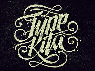 Type Kita calligraphy typography lettering monogram clothing