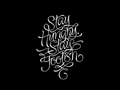 Stay Hungry Stay Foolish bags
