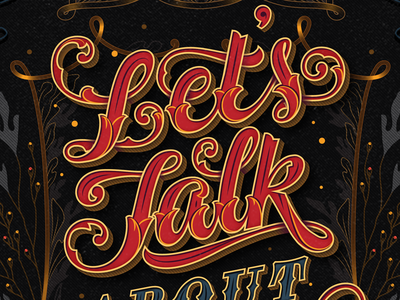 Let's Talk lettering branding typography calligraphy cover poster