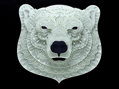 Polar Bear bear polarbear papercut