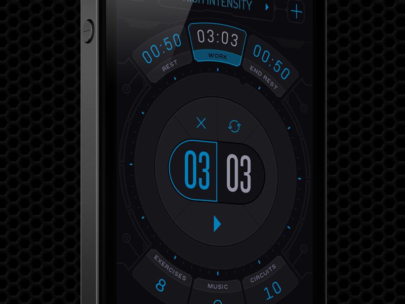 Interval Timer for Workout interval timer timer work clock alarm modern gym workout
