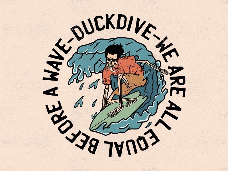DUCKDIVE branding vintage badge tees design merchandise design apparel design merchandise design graphicdesign vintage design illustration