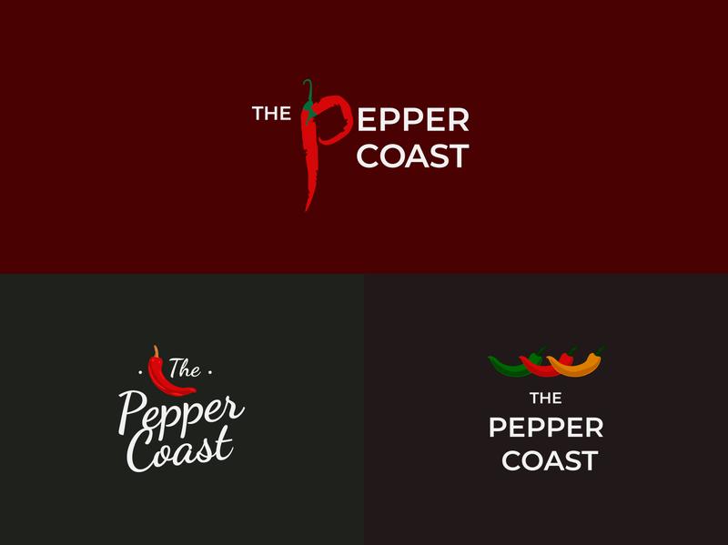 The Pepper Coast Restaurant food branding chilli hot african restaraunt pepper logo