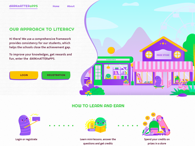 Landing Page Learning App