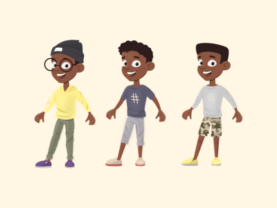 Character design concept - boys