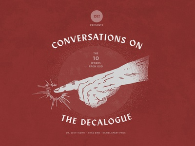 Conversations on the Decalogue 1517 handmade point hand drawn hand textures design vector branding christian shapes illustration texture minimal