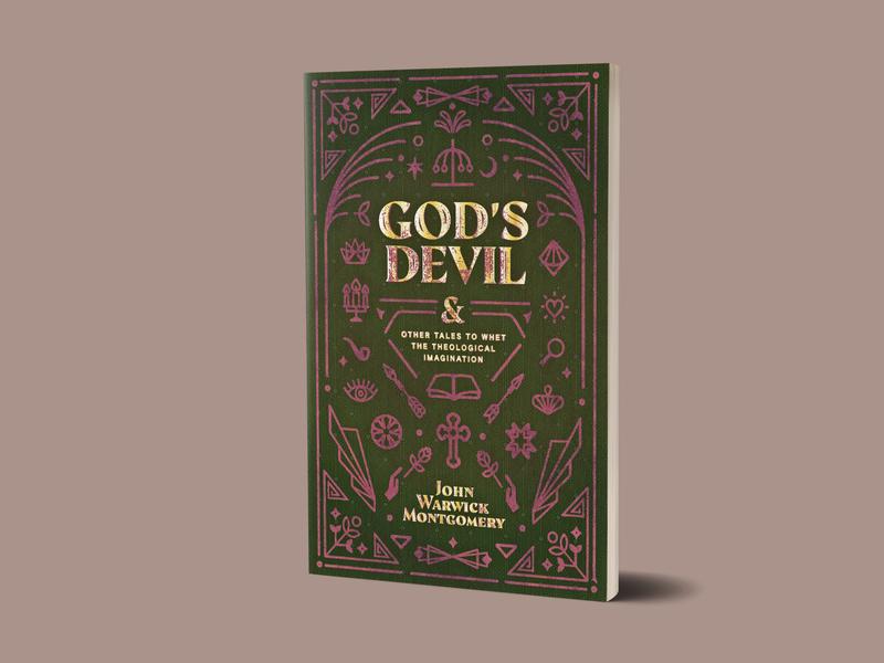 God's Devil vintage book retro deco textures gold foil book design book cover 1517 devil texture line art icons
