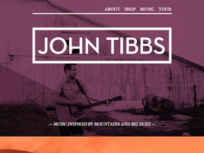 John Tibbs Web Mockup1