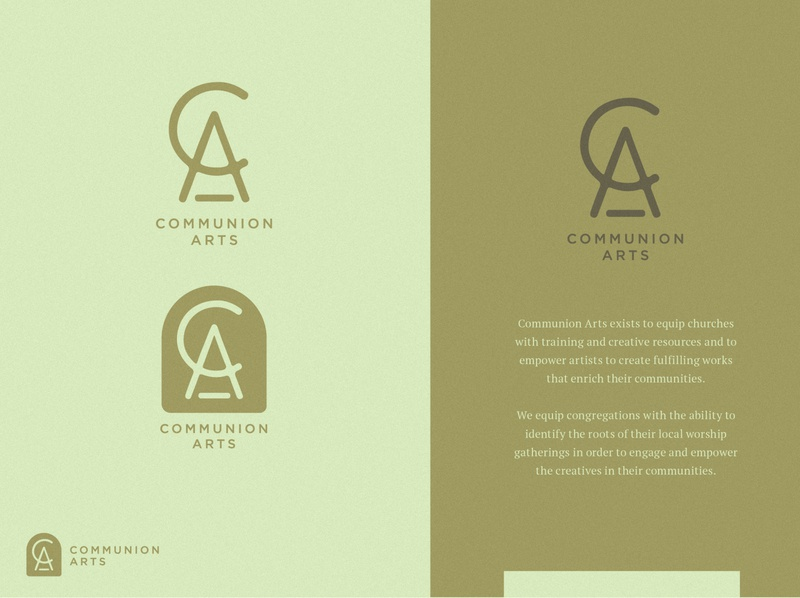 Communion Arts - brand refresh idenntity communion communion arts logo type logo design logo branding design texture minimal