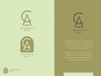 Communion Arts - brand refresh idenntity communion communion arts logo type logo design logo branding design texture minimal