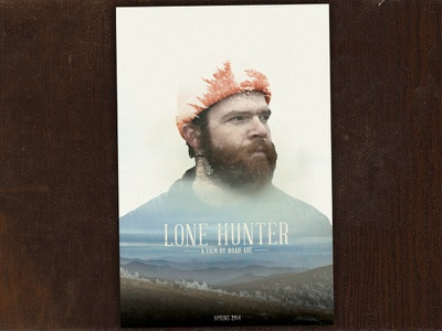 Lone Hunter  theatrical movie poster movie poster cinematic short film film print lone hunter smokies smoky mountains