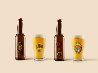 BIERISTESSEN concepts identity hand drawn brewery brewing brew b bb bear beer sketch hand made illustrated design branding illustration minimal